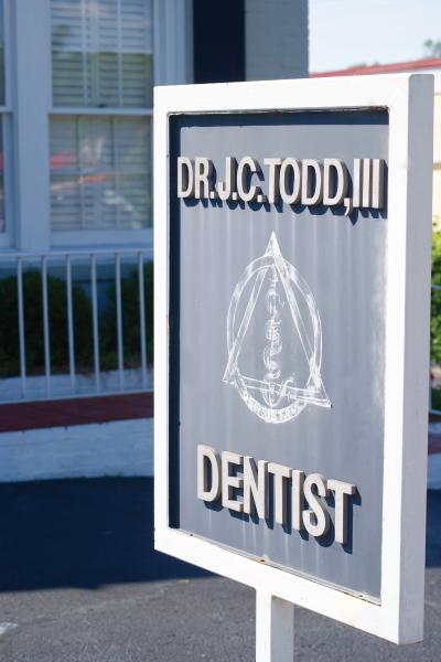 Dr James Todd Dentist Sign